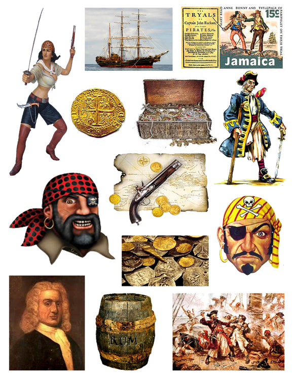 Pirates Digital Collage Sheet 2
