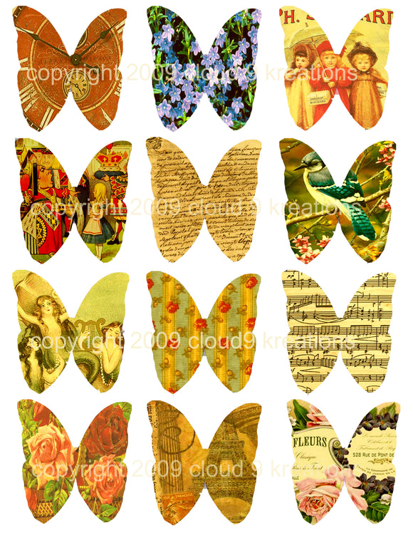 Butterfly Dreams Digital Collage Sheet