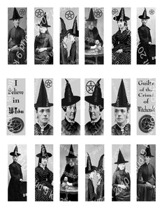 "I Believe In Witches 1""x3"" Microscope Slides Digital Collage Sheet"