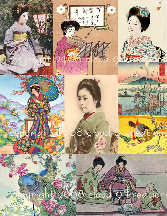 Japanese Digital Collage Sheet 3