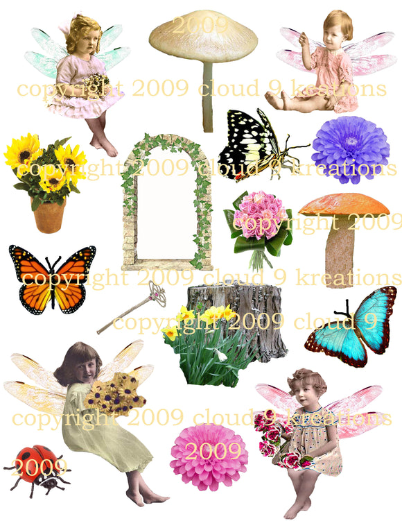 Little Fairies Digital Collage Sheet
