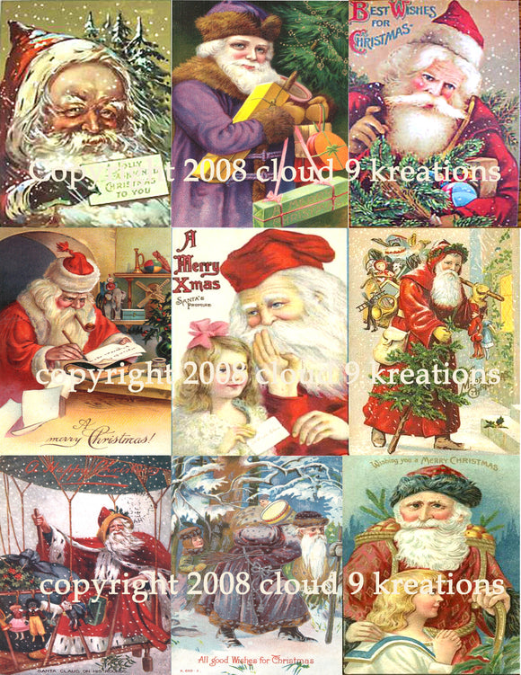 Santa Digital Collage Sheet