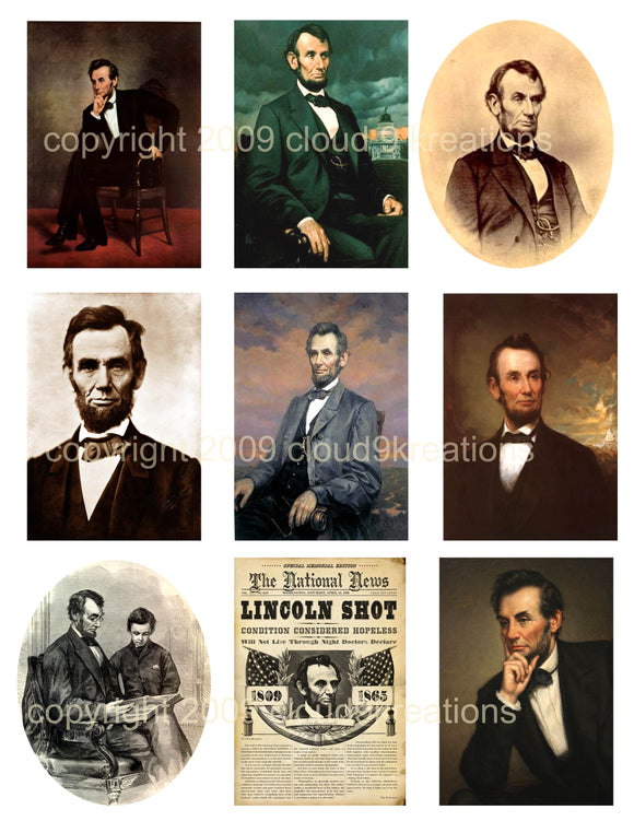 Abraham Lincoln Digital Collage