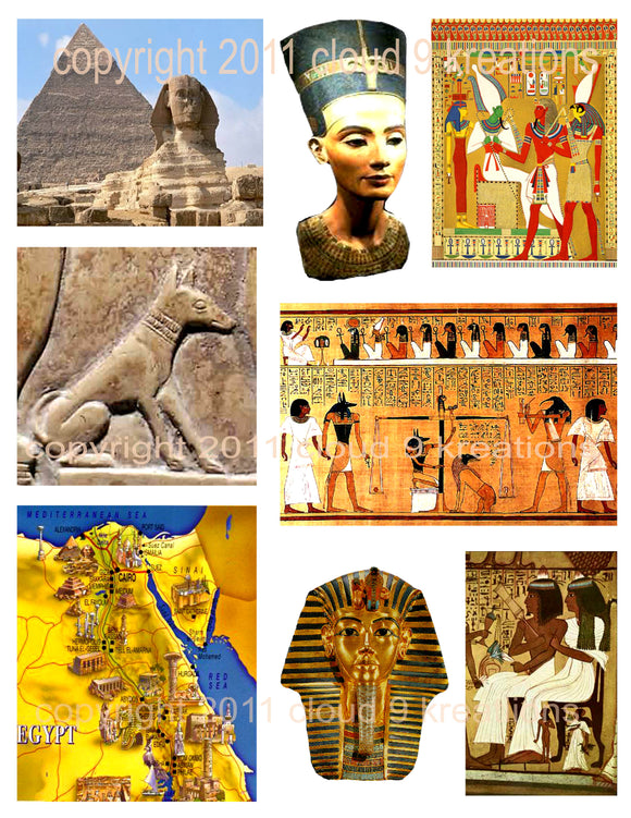 Ancient Egypt Digital Collage Sheet