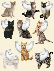 Kitty Angels Digital Collage Sheet