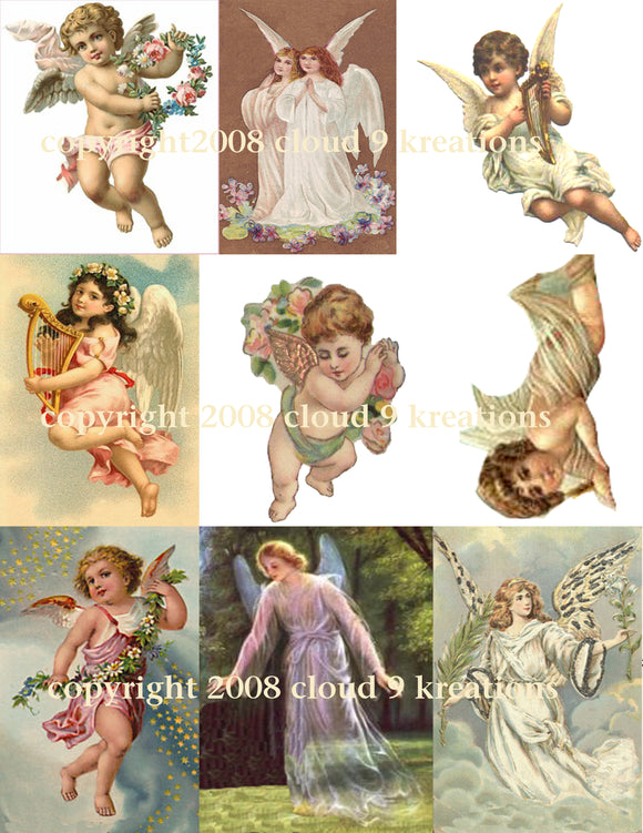 Angels Digital Collage Sheet 1