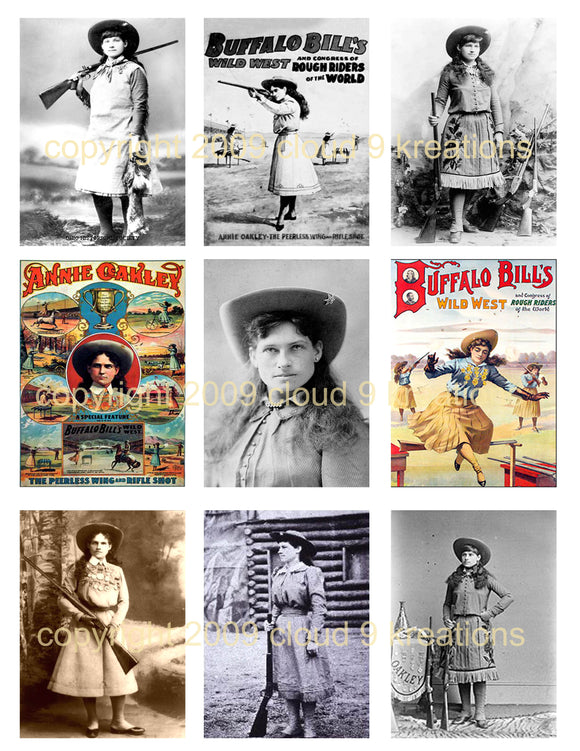 Annie Oakley Digital Collage Sheet 1