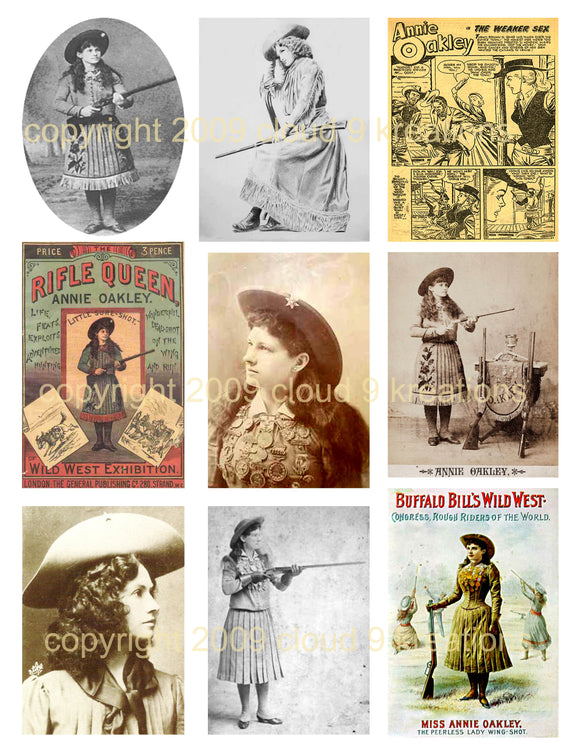 Annie Oakley Digital Collage Sheet 2