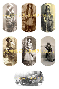 Cowgirl Dog Tags Digital Collage Sheet 2