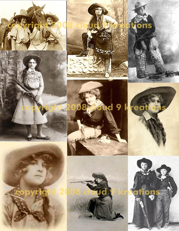 Cowgirls Digital Collage Sheet 1