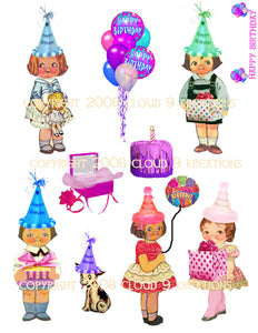 Birthday Dolly Dingle Digital Collage Sheet