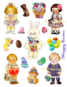 Easter Dolly Dingle Digital Collage Sheet