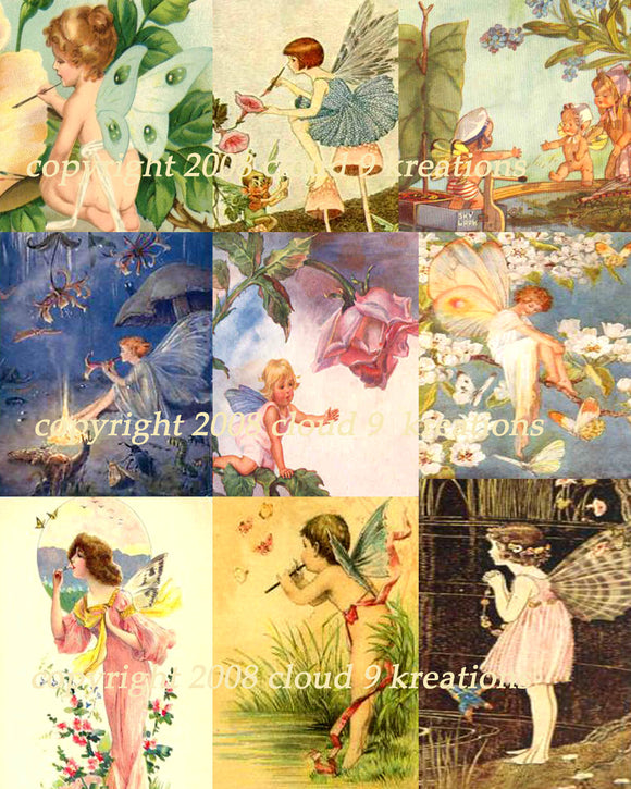 Fairies Digital Collage Sheet Digital Collage Sheet 1