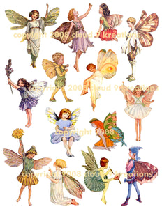 Fairies Digital Collage Sheet 2