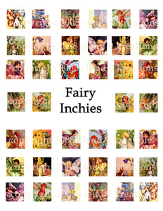 "1""x1"" Fairy Squares Digital Collage Sheet"