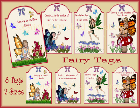 Fairy Gift/Hang Tags Digital Collage Sheet