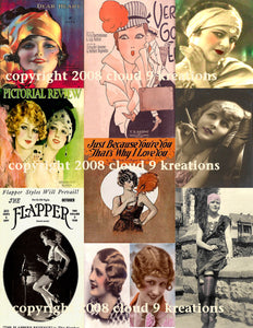 1920's Flappers Digital Collage Sheet