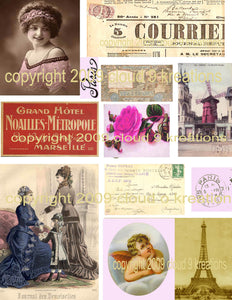 French Digital Collage Sheet 1