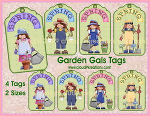 Garden Gals Gift/Hang Tags Digital Collage Sheet 2