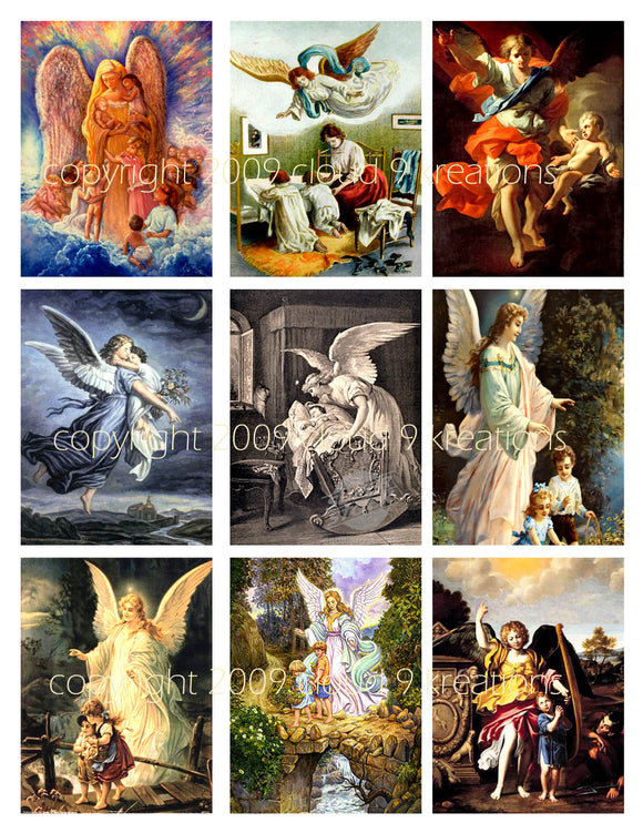 Guardian Angels Digital Collage Sheet 2