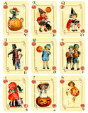 Halloween Vintage Kids Playing Cards (2 Sheets)