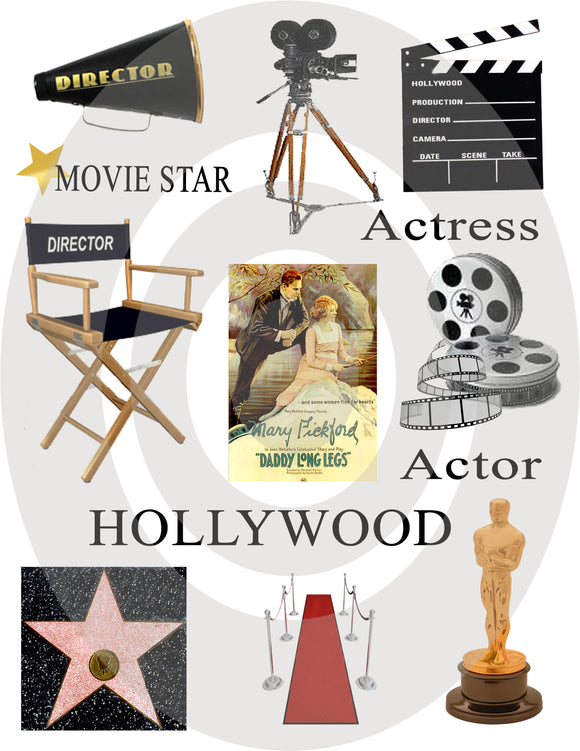Hollywood Digital Collage Sheet