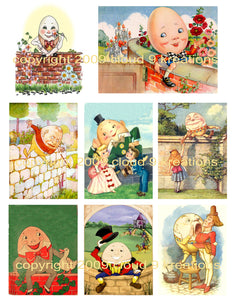 Humpty Dumpty Digital Collage Sheet