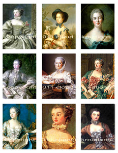 Madame Pompadour Digital Collage Sheet