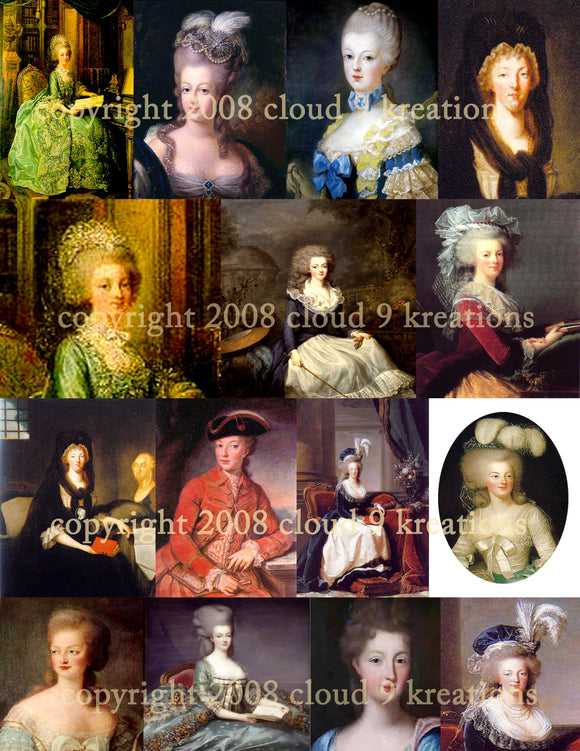 Marie Antoinette Digital Collage Sheet 2