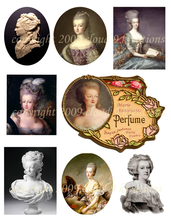 Marie Antoinette Digital Collage Sheet 4