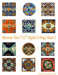 Mexican Tiles Digital Collage Sheet 2