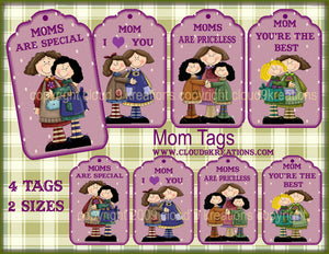 Mother's Day Gift/Hang Tags Digital Collage Sheet