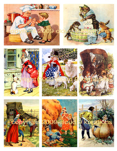 Mother Goose Digital Collage Sheet