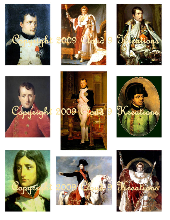 Napolean Bonapart Digital Collage Sheet