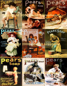 Pears Children Soap Ads Digital Collage Sheet