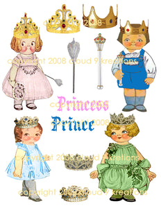 Princess Dolly Dingle Digital Collage Sheet