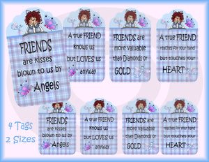 Raggedy Friends Gift/Hang Tags Digital Collage Sheet