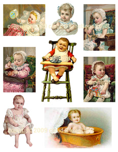 Victorian Babies Digital Collage Sheet 2