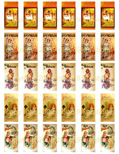 "Alice in Wonderland 1""x2"" Book Covers Digital Collage Sheet"