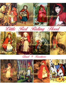 Little Red Riding Hood Digital Collage Sheet