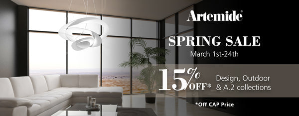 Artemide Lighting SPRING SALE - March 1st - 24th - 15% OFF