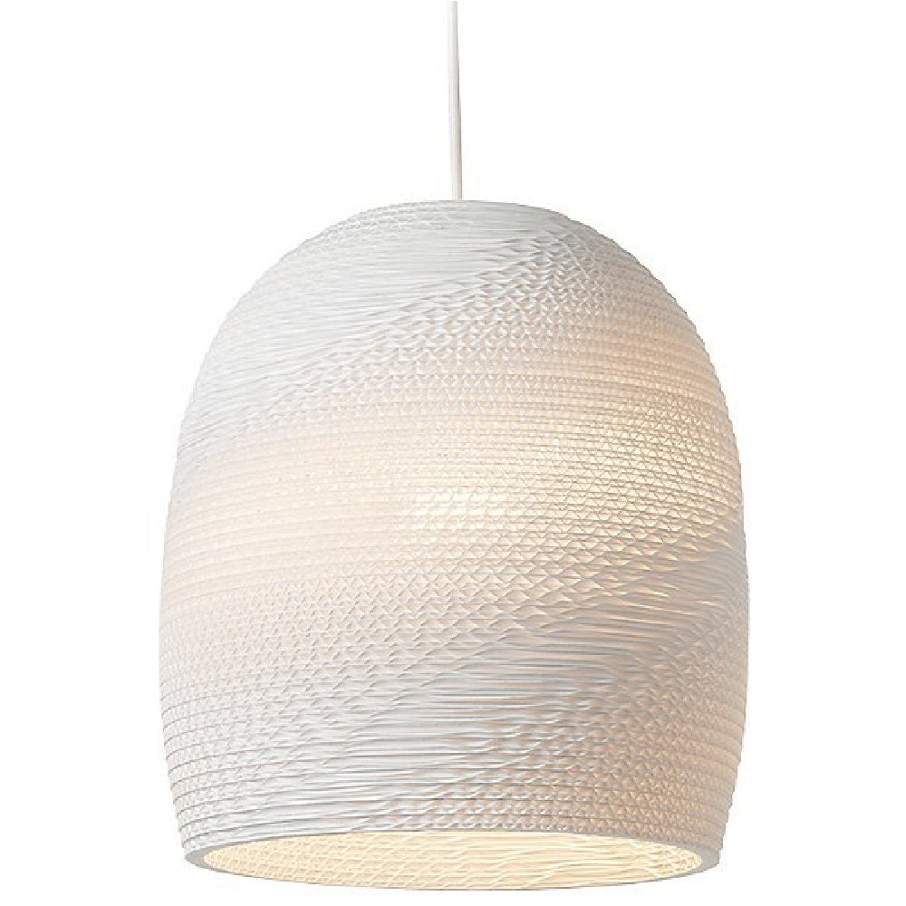 Bell15 Scraplight Pendant White by Graypants
