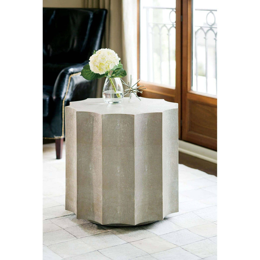 Regina Andrew Marilyn Shagreen Scalloped Table