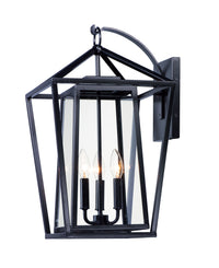 Maxim Lighting Artisan 3-Light Outdoor Wall Sconce 3176CLBK