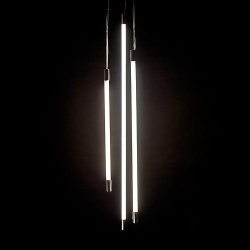 Viso Thin Triple Vertical Pendant Light