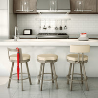 Barry Swivel Stool by Amisco | Amisco | LoftModern