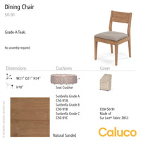 Sixty Dining Chair by Caluco - LoftModern - 3