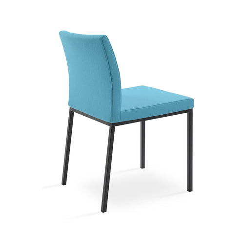 Aria Metal Dining Chair Fabric by SohoConcept