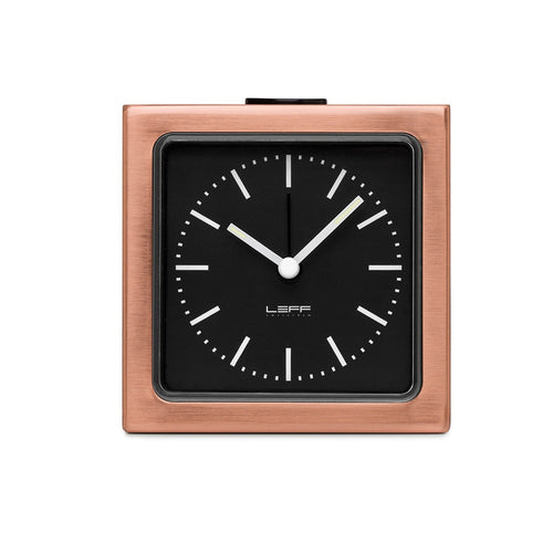 Leff Block Alarm Clock - Steel