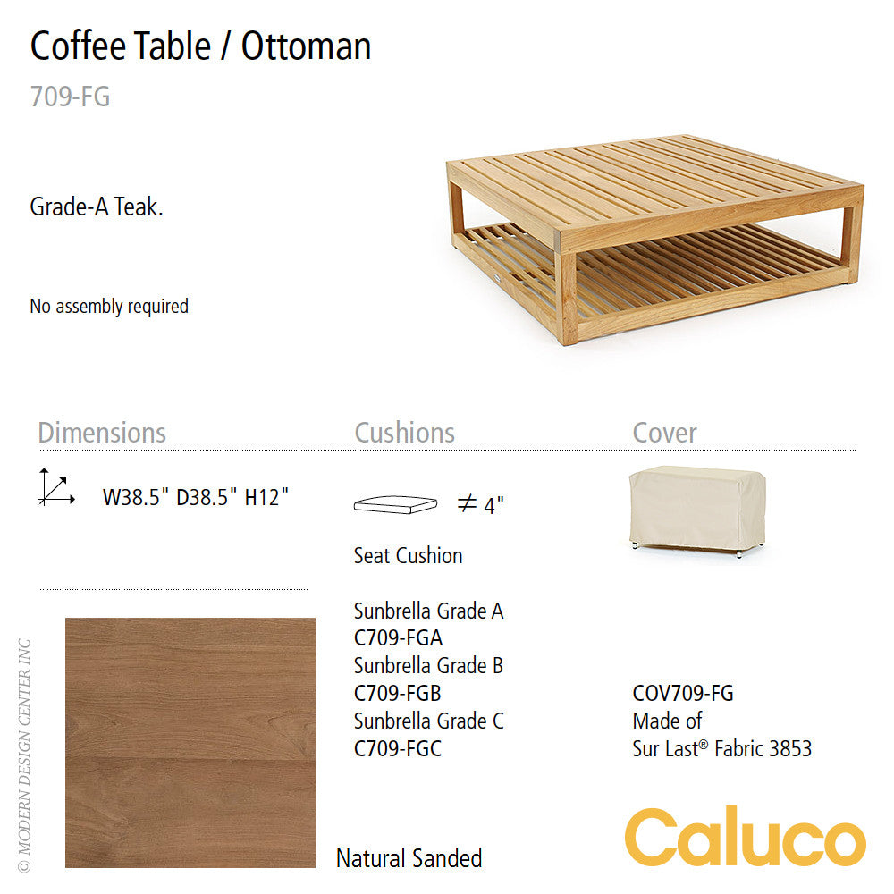 Cozy Coffee Table / Ottoman by Caluco